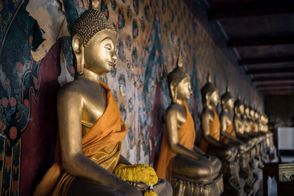 Buddha Statues In Bangkok, Thailand