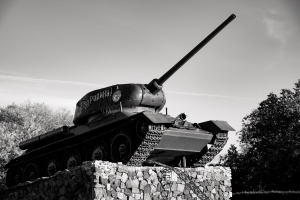 A Old Tank In The City Of Tiraspol, Transnistria