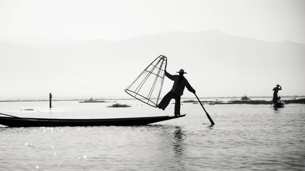 Famous Fishers At Inle Lake, Myanmar